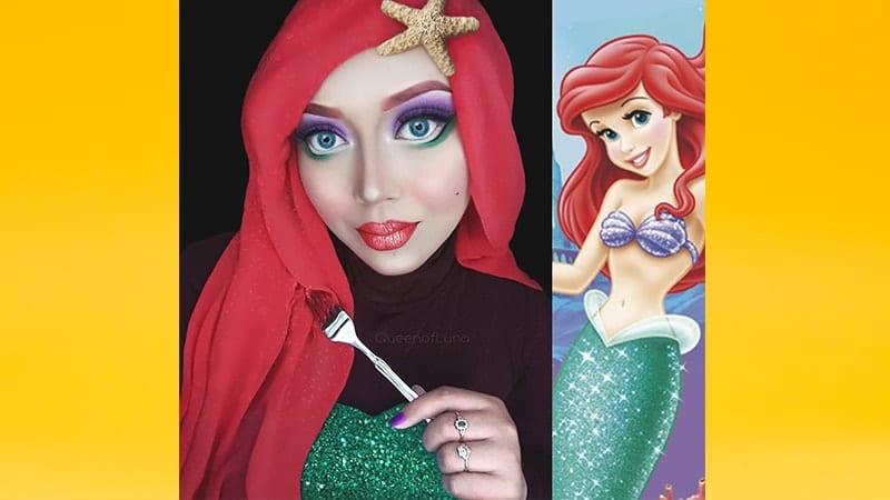Contoh Make Up Karakter - Princess Ariel