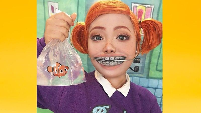 Contoh Make Up Karakter - Nemo