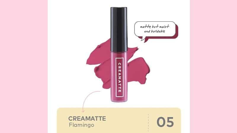 Shade Emina lip cream Creamatte - Flamingo