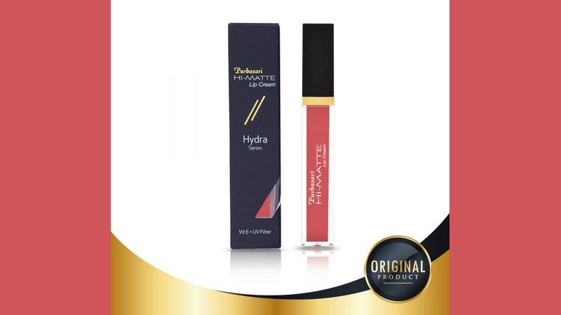 Warna Lipstik yang Cocok untuk Kulit Sawo Matang - Purbasari Hi Matte Lip Cream 02 Azalea