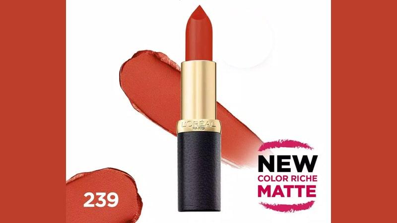 Warna Lipstik yang Cocok untuk Kulit Sawo Matang - Loreal Coral Veritable
