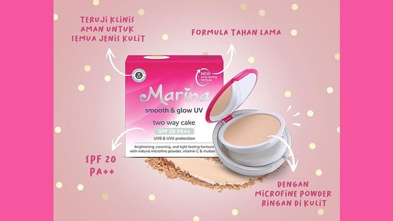 Marina Smooth & Glow UV Compact Powder