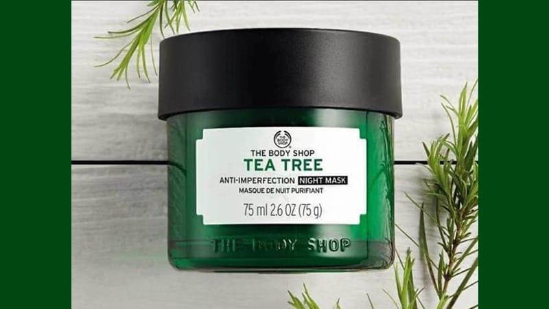 Masker untuk Menghilangkan Bruntusan - The Body Shop Tea Tree Anti-Imperfection Night Mask