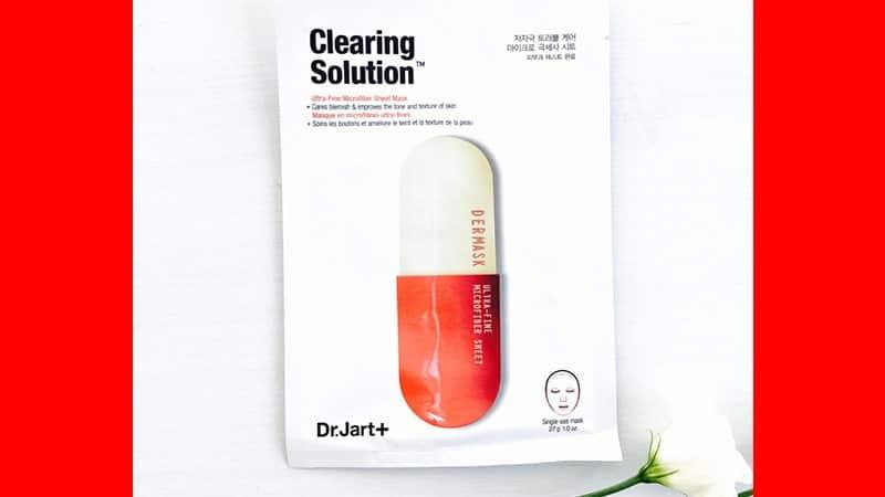 Masker untuk Kulit Berjerawat - Dr. Jart+ Dermask Micro Jet Clearing Solution