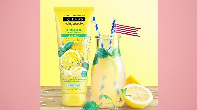 Masker Wajah untuk Kulit Berminyak - Freeman Oil Absorbing Mint Lemon Clay Mask