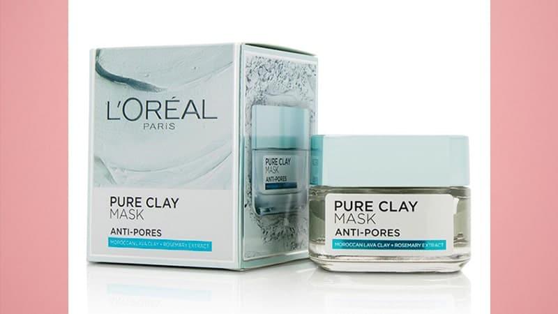 Masker Wajah untuk Kulit Berminyak - Loreal Paris Pure Clay Mask