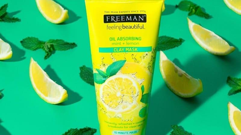 Masker untuk Menghilangkan Bekas Jerawat - Freeman Mint + Lemon Clay Mask