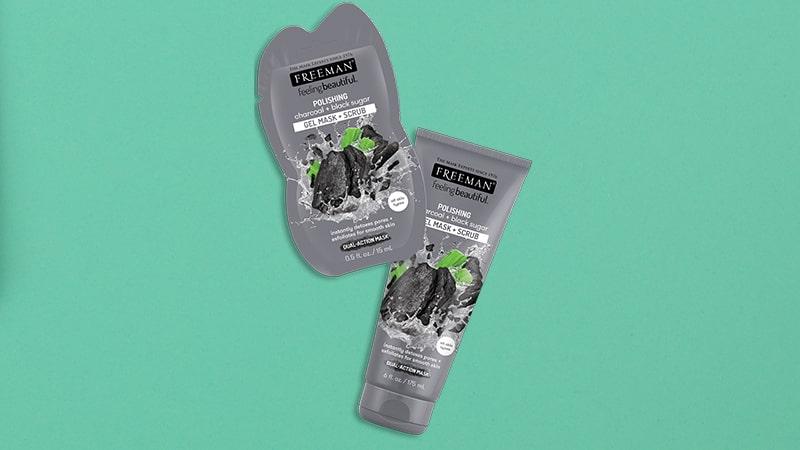 Produk Masker untuk Mengecilkan Pori-Pori Wajah - Freeman Charcoal Black Sugar Polishing Mask