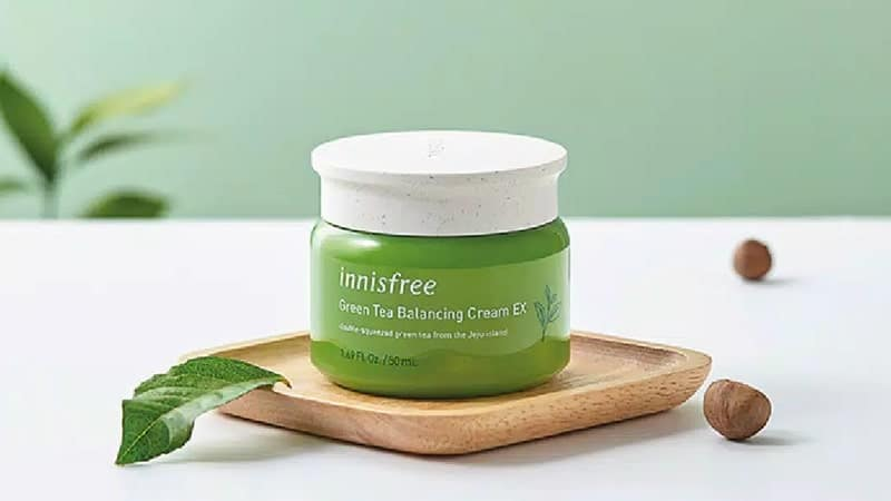 Pelembab Wajah untuk Kulit Kombinasi - Innisfree Green Tea Balancing Cream EX