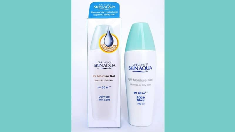 Sunscreen Terbaik yang Bagus untuk Wajah - Skin Aqua Moisture Gel SPF 30 PA ++