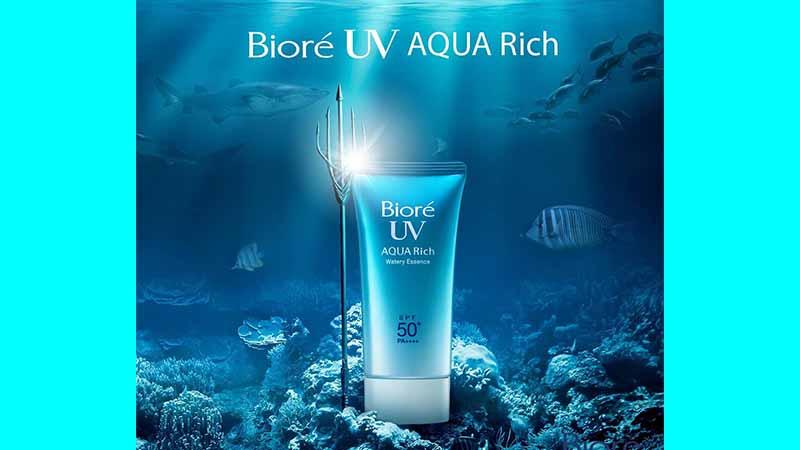 Sunscreen SPF 50 - Biore UV Aqua Rich Watery Essence SPF 50 PA ++++