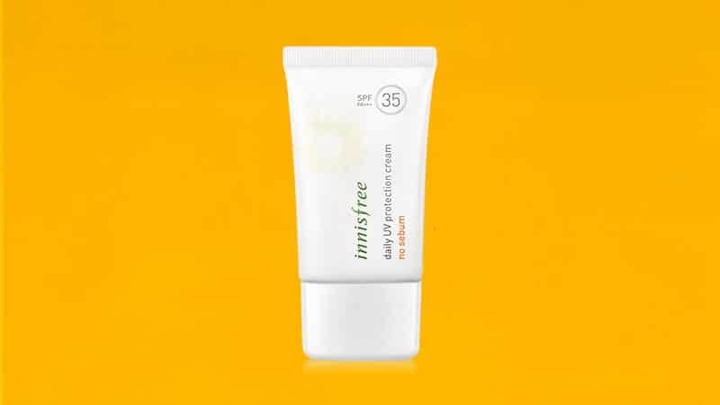 Sunscreen untuk Kulit Berminyak - Innisfree Daily UV Protectio Cream No Sebum