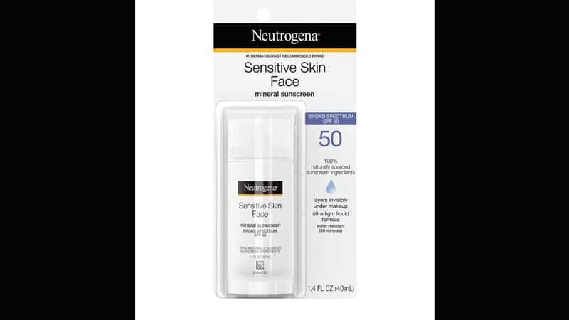 Neutrogena Sensitive Skin Face Liquid Sunscreen
