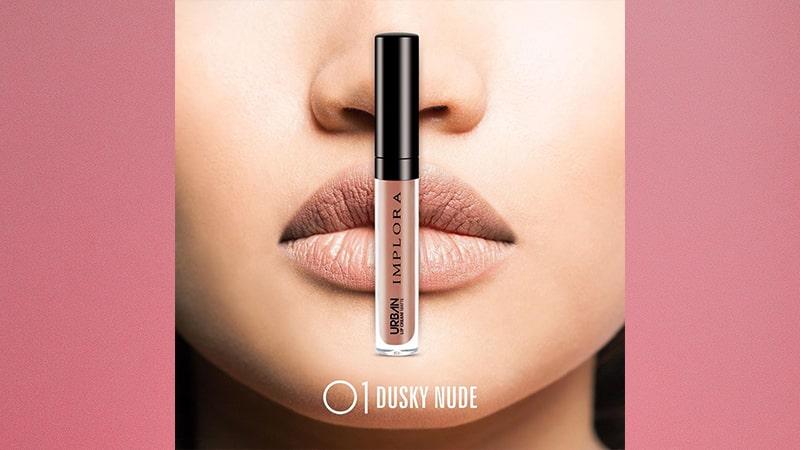 Urban Implora Lip Cream Matte - Shade 01 Dusky Nude