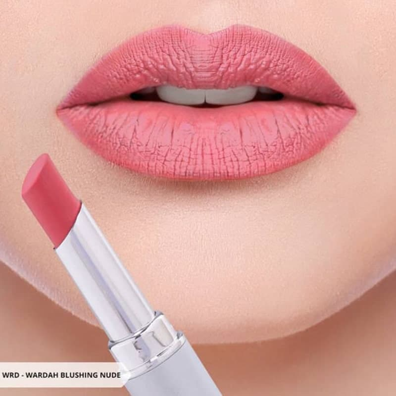 Warna Lipstik Wardah Natural - Intense Matte Blushing Nude