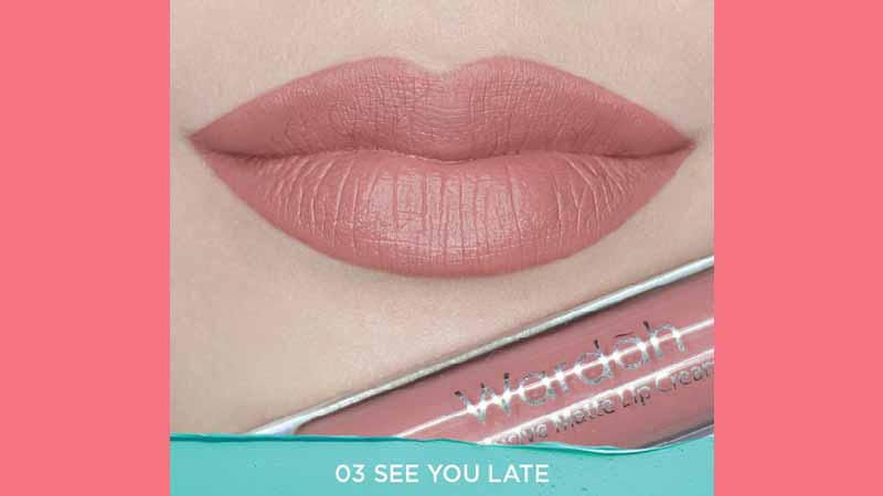 Lip Cream Wardah Warna Natural - Exclusive Matte Lip Cream See You Latte