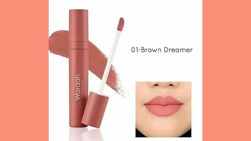 Wardah Colorfit Velvet Matte Lip Mousse Brown Dreamer