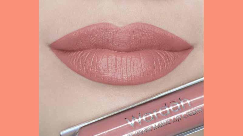 Lipstik Wardah Warna Nude - Wardah Exclusive Matte Lip Cream See You Latte