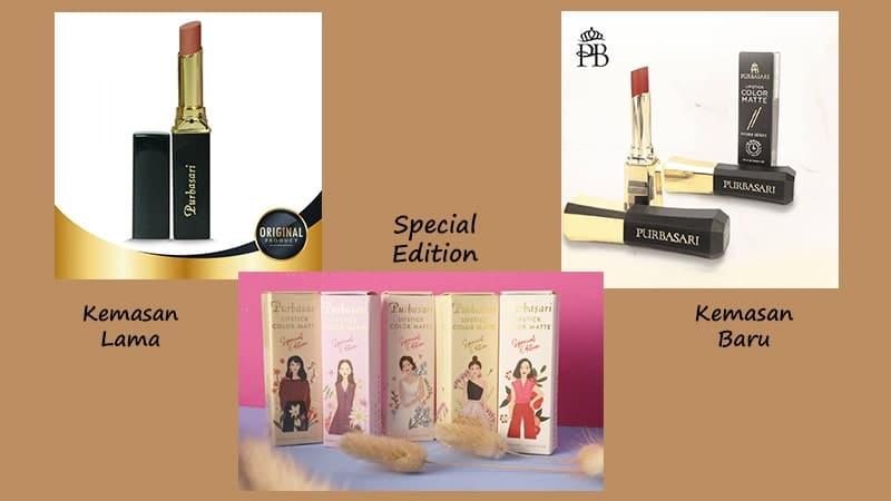 Warna-Warna Lipstik Purbasari - Lipstick Color Matte