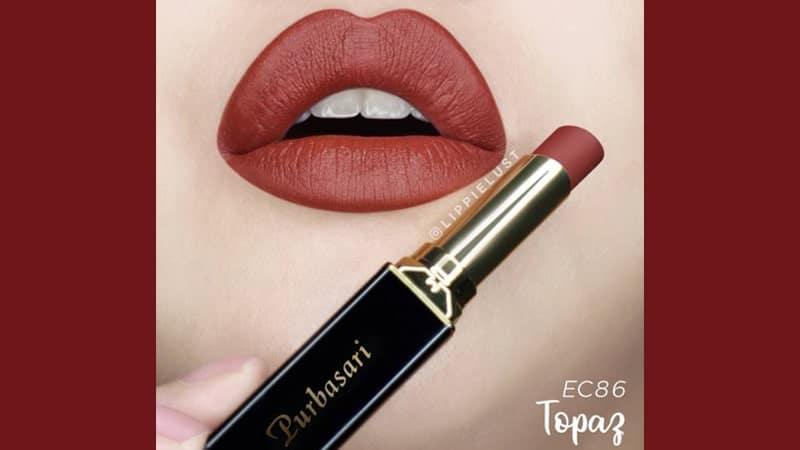 Warna Lipstik Purbasari untuk Bibir Hitam - Lipstick Color Matte Topaz