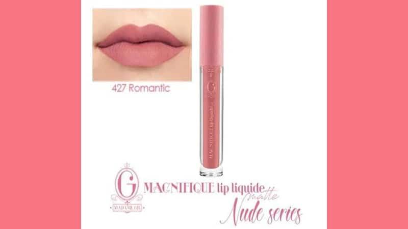 Warna Lip Cream Madame Gie untuk Kulit Sawo Matang - Magnifique Lip Liquide Nude 427 Romantic