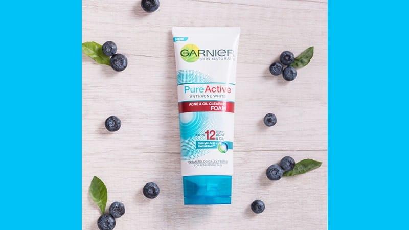 Rangkaian Garnier Pure Active - Anti Acne White Foam