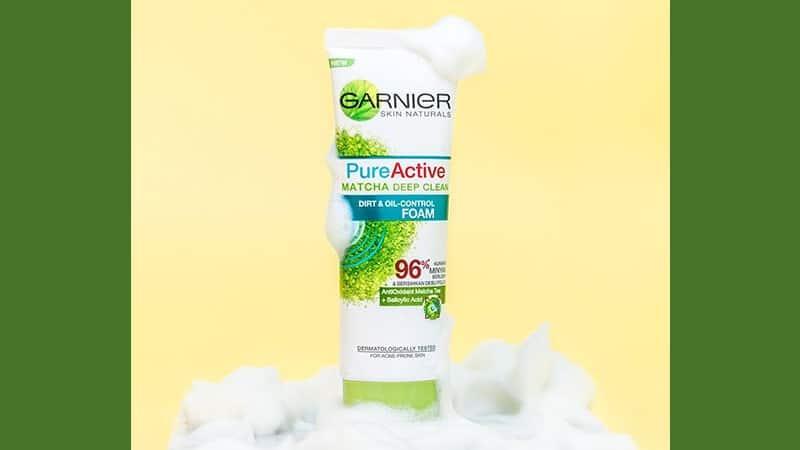 Sabun Muka Garnier - Pure Active Matcha Foam