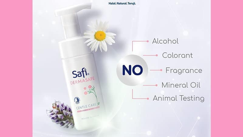 Rangkaian Safi Dermasafe - Gentle Care Mousse Cleanser