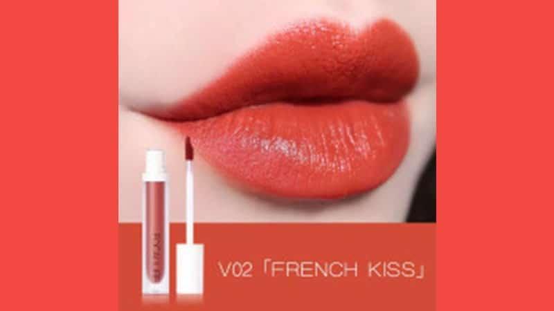 Warna Lipstik Focallure yang Bagus - Velvet Liquid Lipstick For Plump Smooth Lips V02 French Kiss