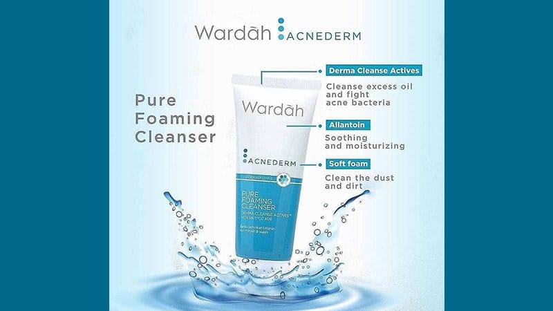 Rangkaian Wardah Acnederm Series - Pure Foaming Cleanser