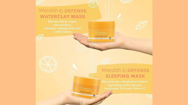 Jenis Masker Wajah Wardah - C-Defense Waterclay Mask