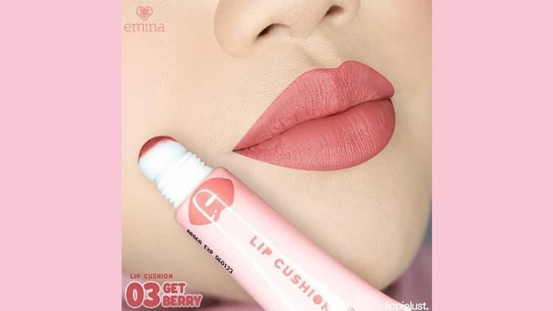 Harga Emina Lip Cushion Swatches - Get Berry