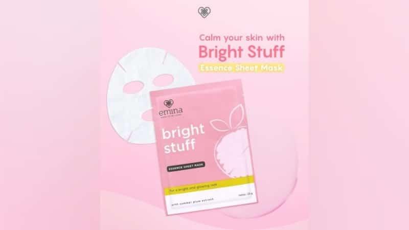Varian Sheet Mask Emina - Bright Stuff Essence Sheet Mask