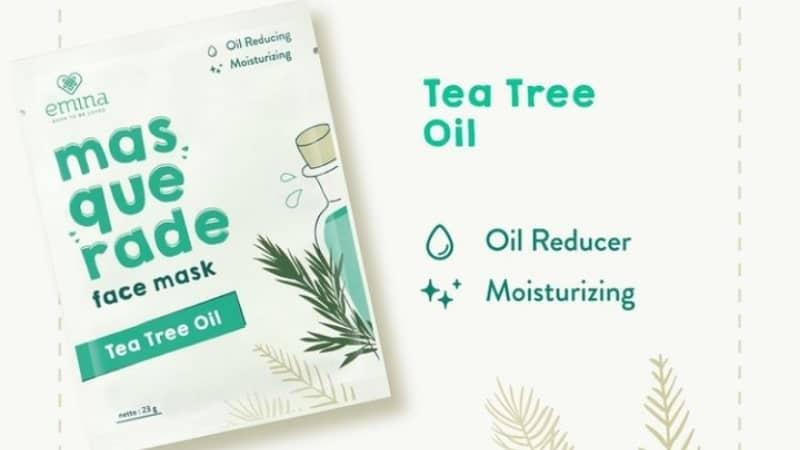 Harga Sheet Mask Emina - Masquerade Face Mask Tea Tree Oil