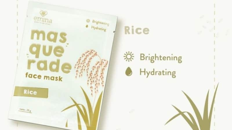 Harga Sheet Mask Emina - Masquerade Face Mask Rice