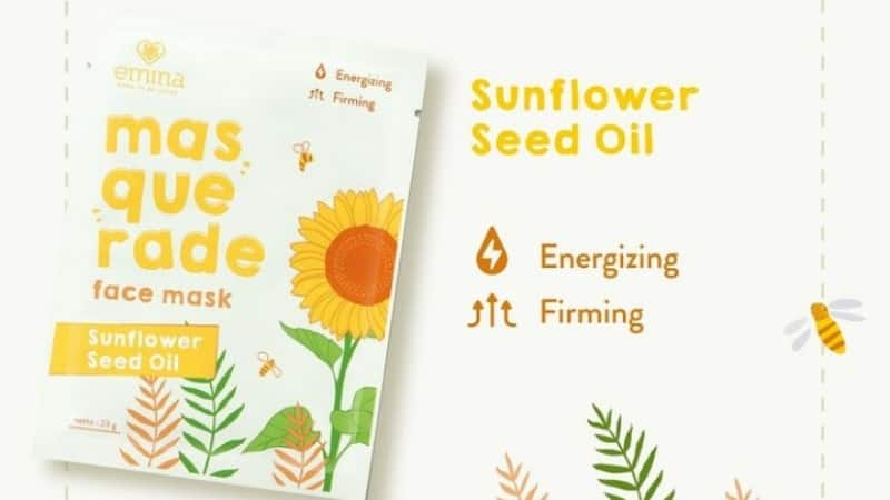 Masquerade Face Mask Sunflower Seed Oil