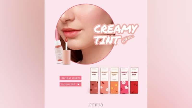 Shade Emina Creamy Tint - Seluruh Swatch Warna