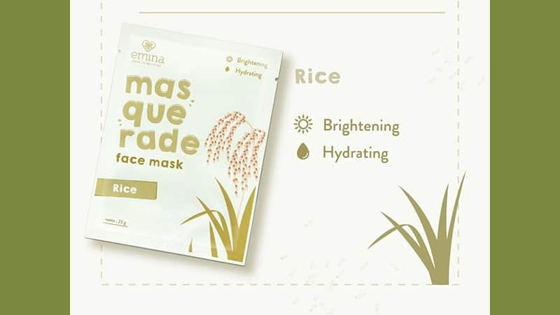 Produk Skincare Emina untuk Kulit Kering - Masquarade Face Mask Rice