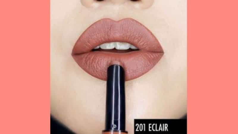Lipstik Make Over untuk Kulit Sawo Matang - Cliquematte Lip Stylo 201 Eclair