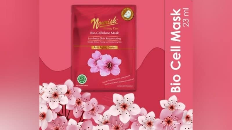 Nourish Beauty Care Bio Cellulose Mask Luminous Skin Rejuvinating