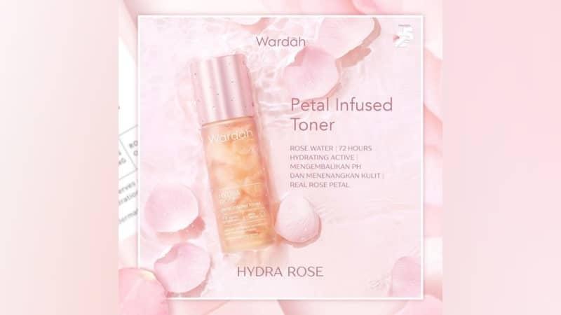 Rangkaian Produk Wardah Glowing - Hydra Rose Petal Infused Toner